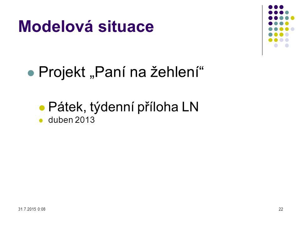 """Modelová situace Projekt """"Paní na žehlení"""" Pátek, týdenní příloha LN duben 2013 31.7.2015 0:1022"""