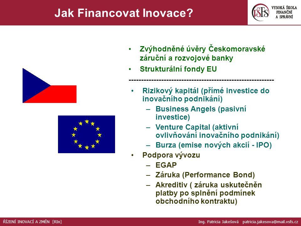 23.Jak Financovat Inovace. ??. Peníze – Prodej??.