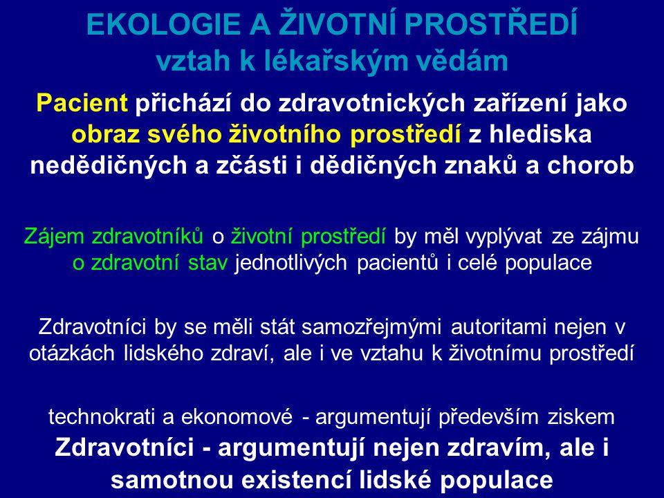 Historie/vývoj ekologie  Ekologie člověka (počátky ve 20.