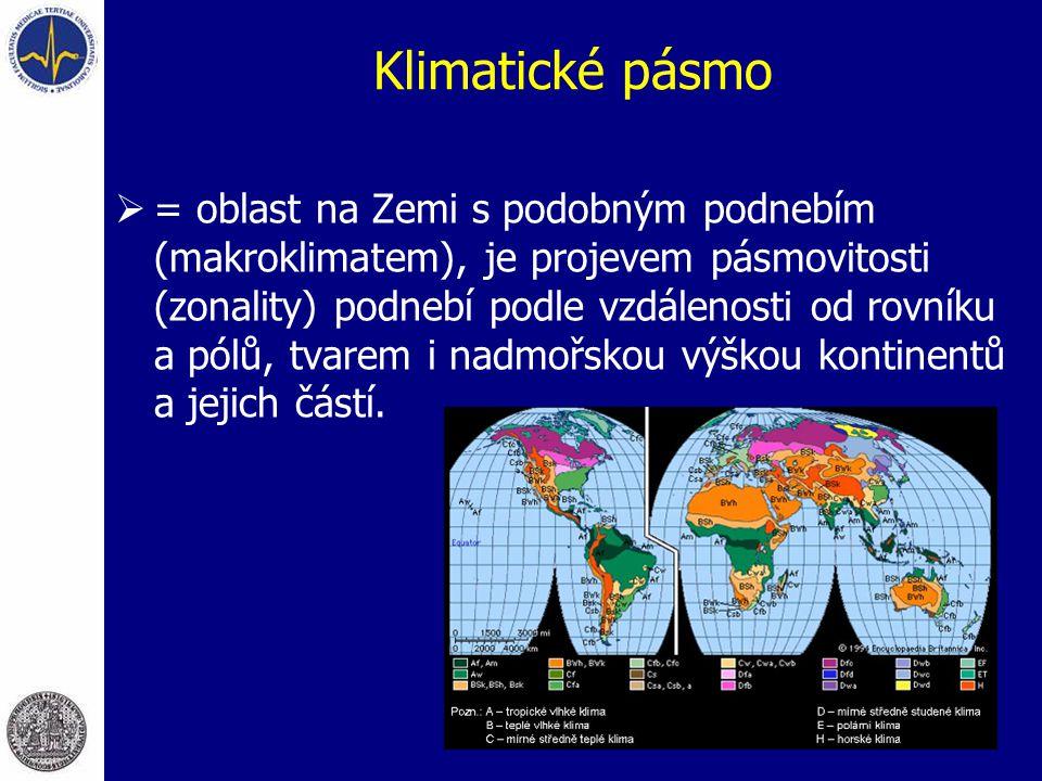 Klimatické pásmo  = oblast na Zemi s podobným podnebím (makroklimatem), je projevem pásmovitosti (zonality) podnebí podle vzdálenosti od rovníku a pó