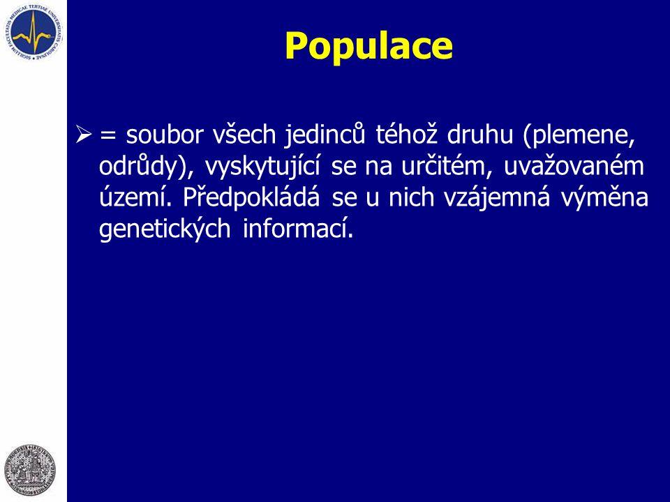 Populace  = soubor všech jedinců téhož druhu (plemene, odrůdy), vyskytující se na určitém, uvažovaném území. Předpokládá se u nich vzájemná výměna ge