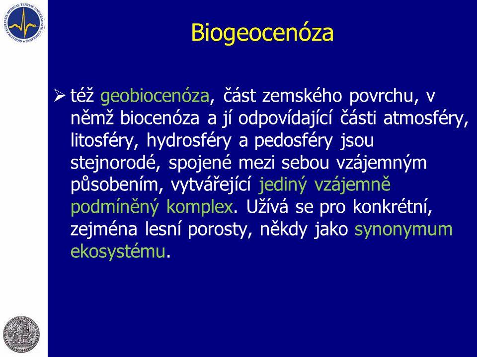 Biogeocenóza  též geobiocenóza, část zemského povrchu, v němž biocenóza a jí odpovídající části atmosféry, litosféry, hydrosféry a pedosféry jsou ste