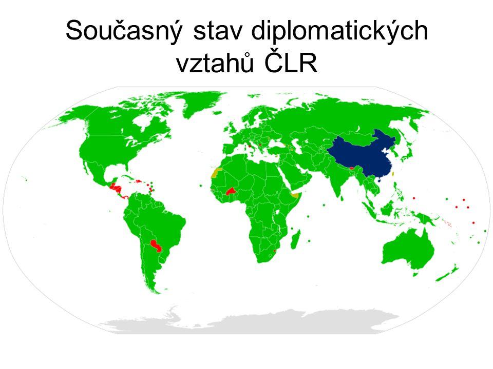 Současný stav diplomatických vztahů ČLR