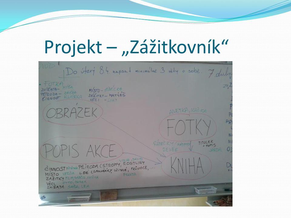 """Projekt – """"Zážitkovník"""""""