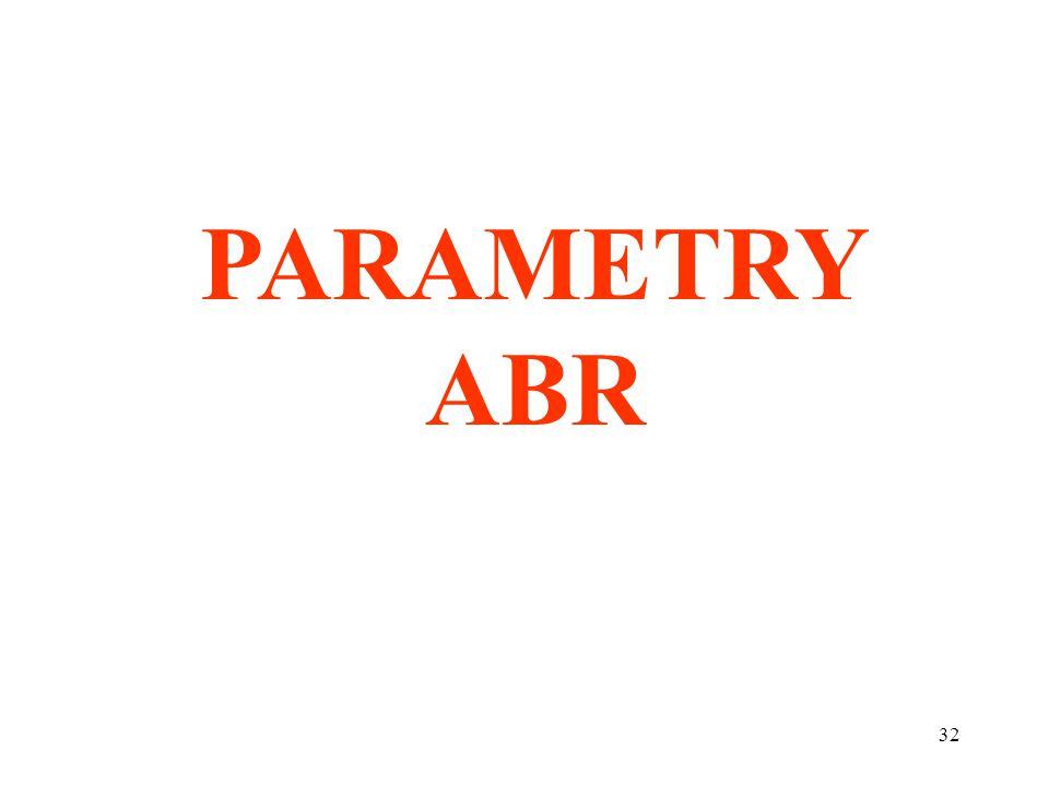 32 PARAMETRY ABR