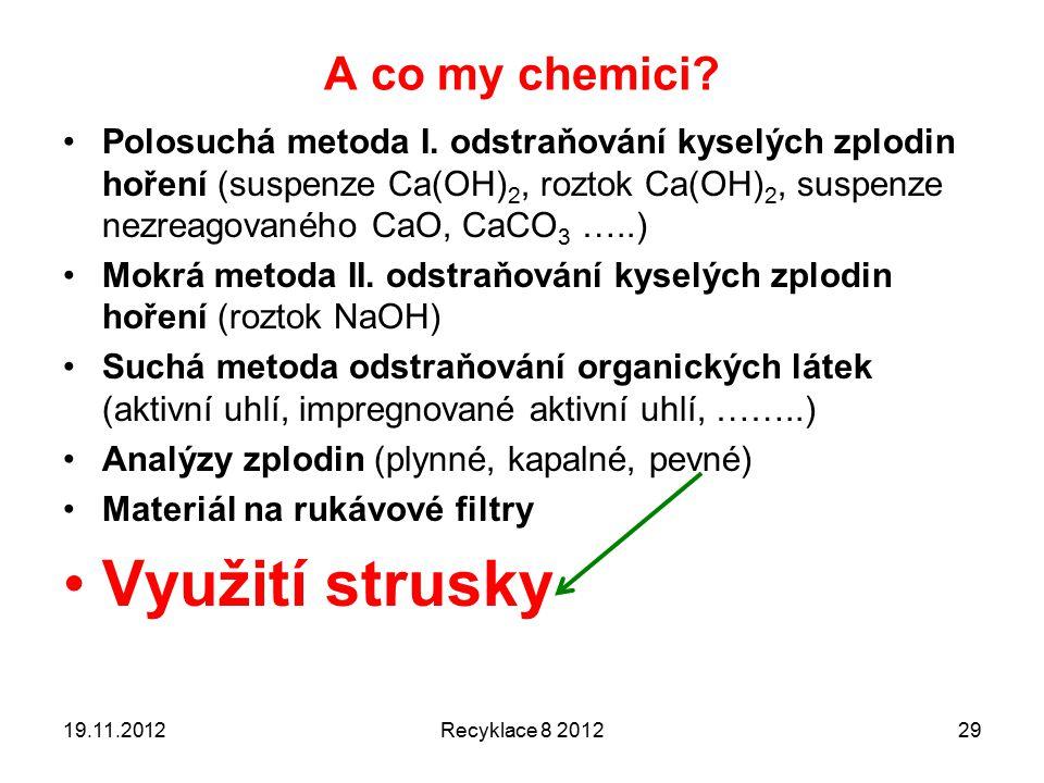 A co my chemici.Polosuchá metoda I.