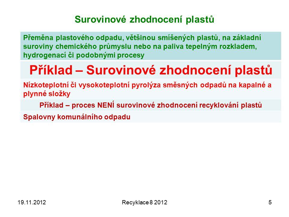 19.11.2012Recyklace 8 201236 Dioxin – derivát (1,4 dibenzo + 4x chlorovaný) Systematický název 2,3,7,8- tetrachloro- dibenzo (b,e)(1,4)dioxin 2,3,7,8- tetrachlordibenzo - p-dioxin Triviální názevdioxin, TCDD Sumární vzorecC 12 H 4 Cl 4 O 2 Vzhled bezbarvá krystalická látka Identifikace Registrační číslo CAS 1746-01-6 Vlastnosti Molární hmotnost321,98 g/mol Teplota tání305 °C Teplota varu421 °C Hustota1,643 g/cm³ RozpustnostRozpustnost ve vodě vodě 2×10 -4 mg/l (25 °C) Smrtelná dávka u krys LD50 při podání v potravě je pouhých 20 μg/kg.