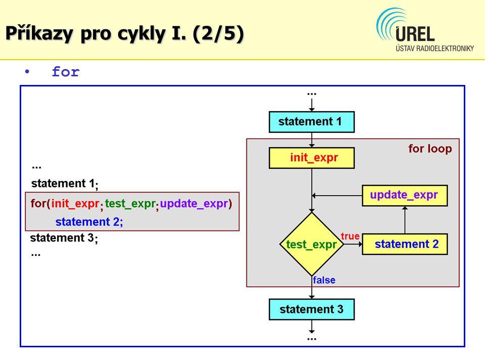 for Příkazy pro cykly I. (2/5)