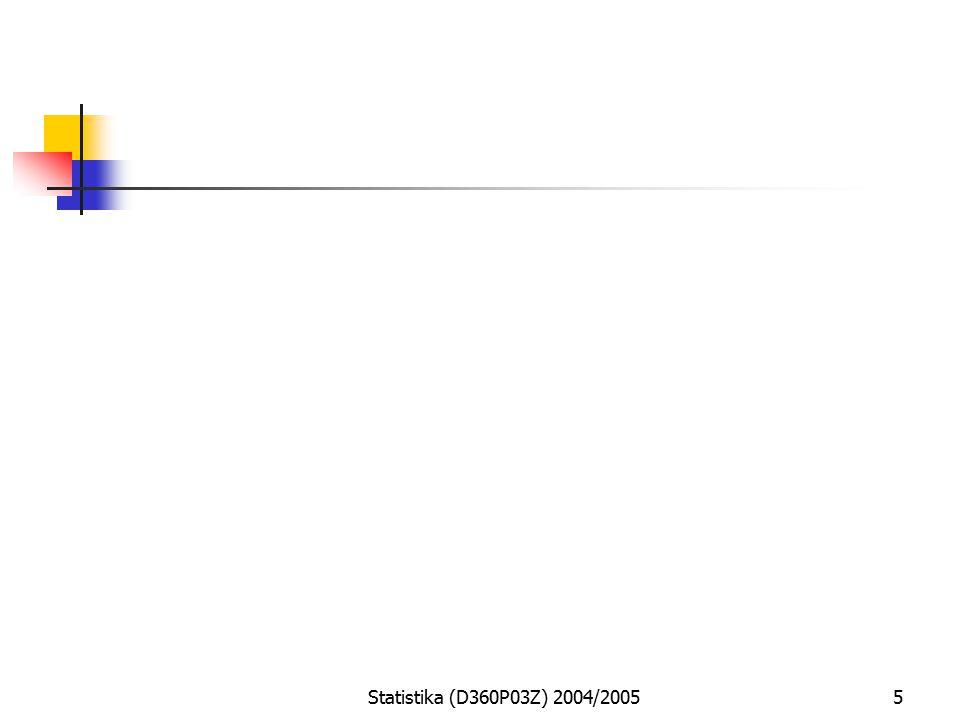 Statistika (D360P03Z) 2004/20055