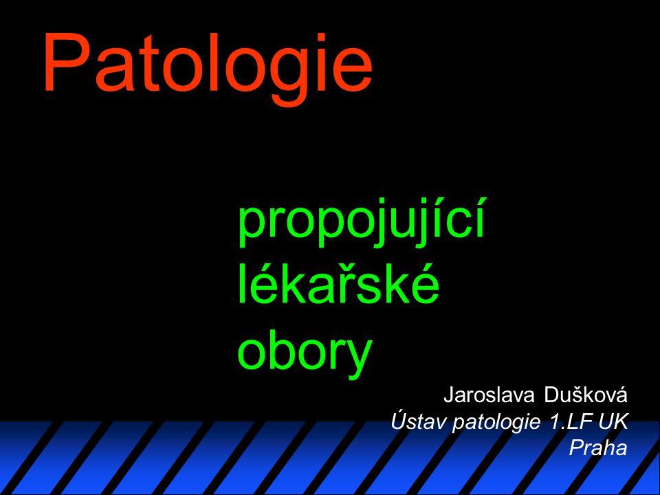 Patologie Jaroslava Dušková Ústav patologie 1.LF UK Praha propojující lékařské obory
