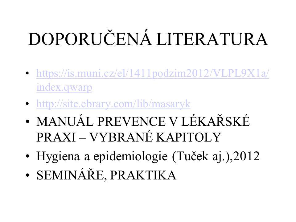 DOPORUČENÁ LITERATURA https://is.muni.cz/el/1411podzim2012/VLPL9X1a/ index.qwarphttps://is.muni.cz/el/1411podzim2012/VLPL9X1a/ index.qwarp http://site
