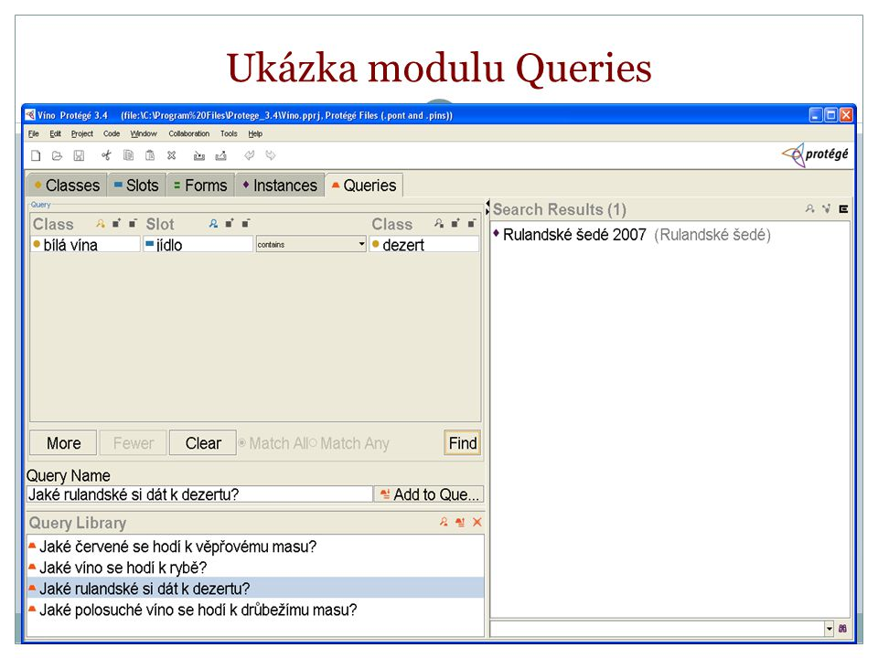 Ukázka modulu Queries