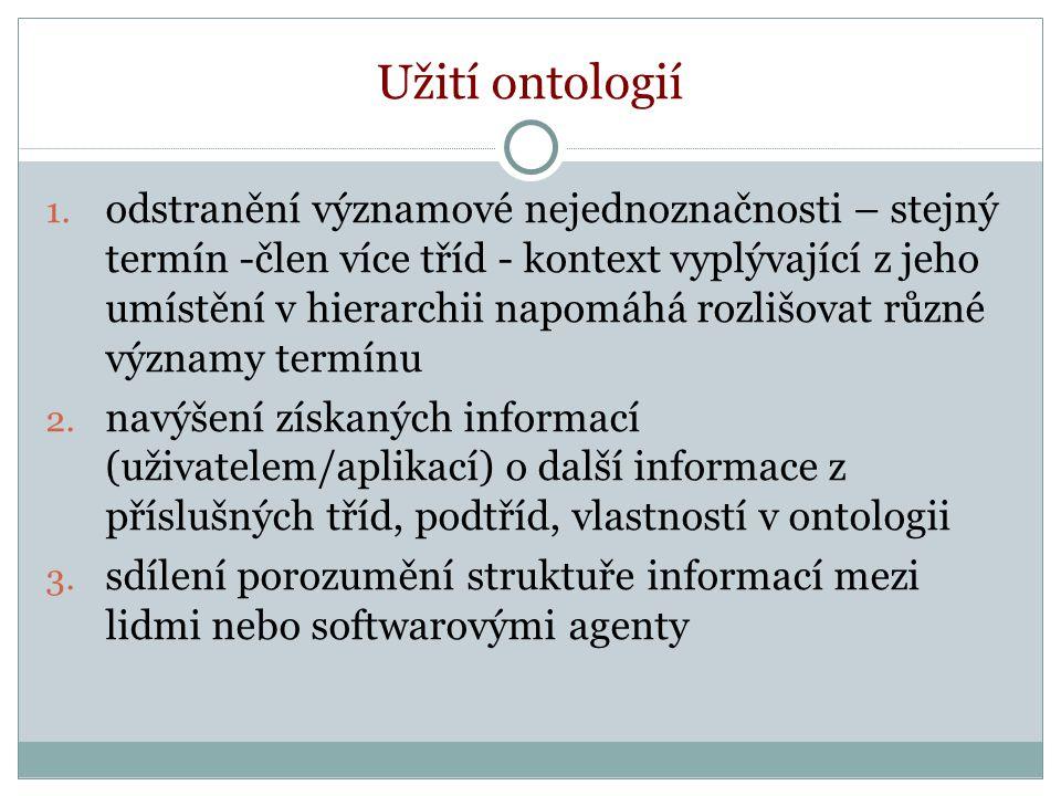 Užití ontologií 1.