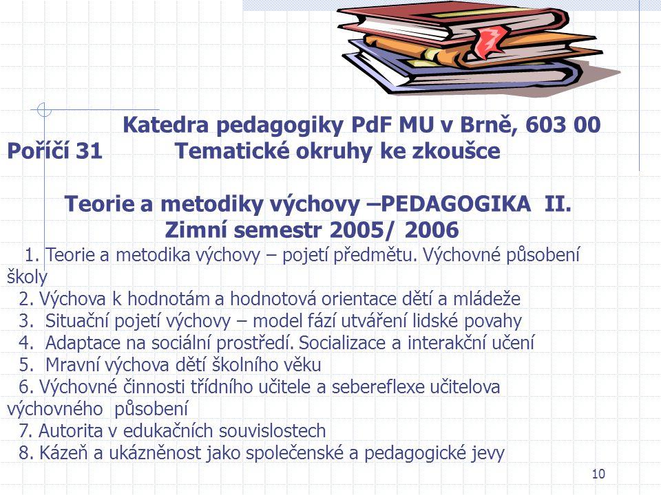 9 Kyriacou, Ch. Klíčové dovednosti učitele. Praha: Portál, 1996, 155 s. ISBN 80-7178-022-7. Langová, M., Vacínová, M. Jak se to chováš? Praha: Empatie