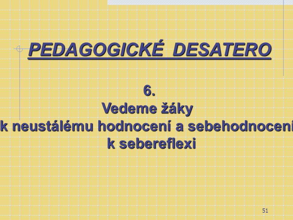 50 PEDAGOGICKÉ DESATERO 5. Uvádíme žáky do informačního systému.