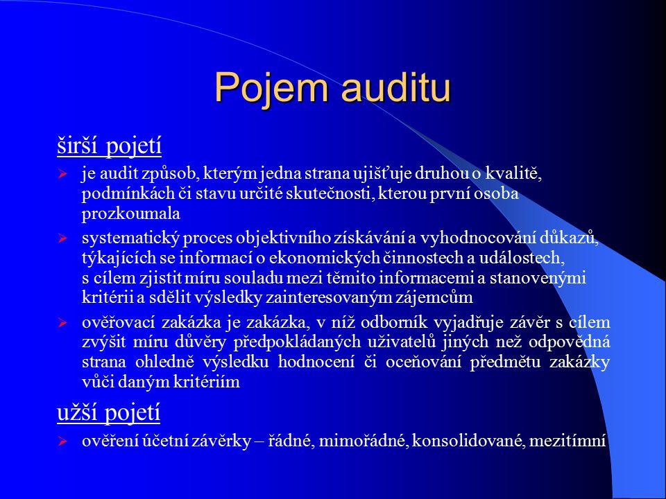Hlavní principy přijaté právní úpravy uvést do souladu českou právní úpravu se směrnicí 2006/43/ES ze dne 17.