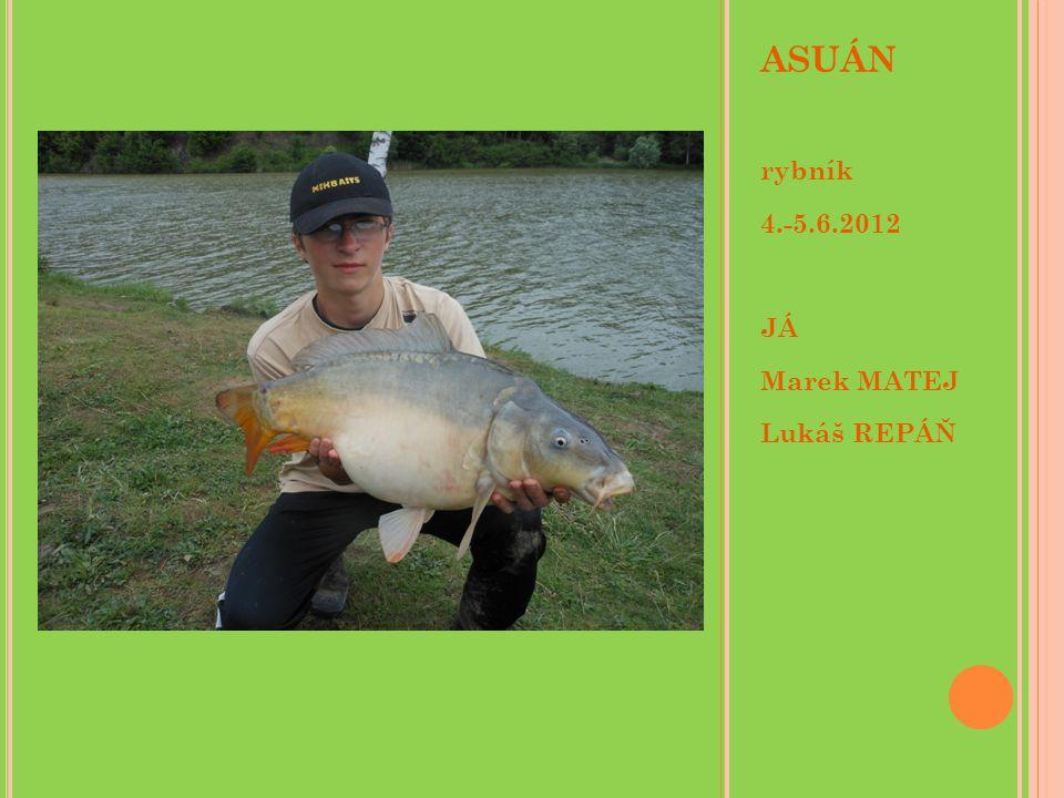 ASUÁN rybník 4.-5.6.2012 JÁ Marek MATEJ Lukáš REPÁŇ