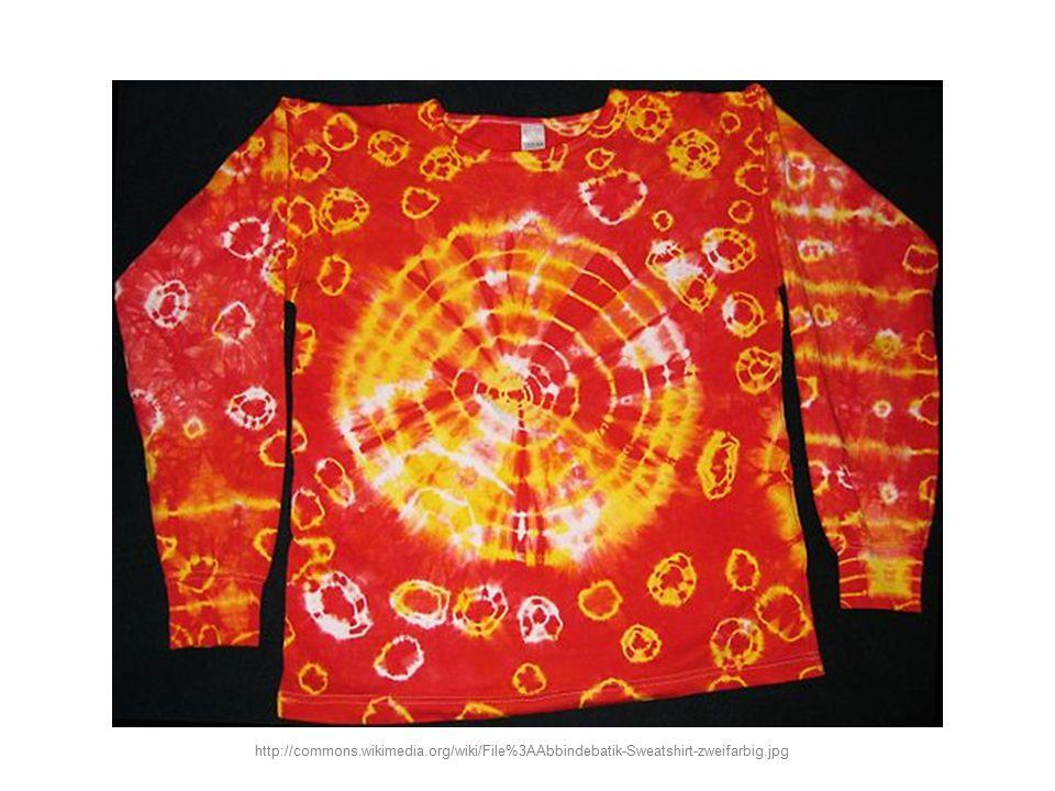 Úkol: Jaký druh batiky je na obrázku? http://commons.wikimedia.org/wiki/File%3AFarliberty4.jpg