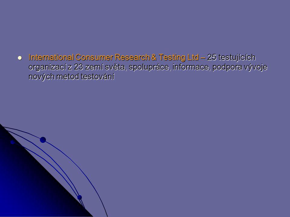 International Consumer Research & Testing Ltd – 25 testujících organizací z 23 zemí světa, spolupráce, informace, podpora vývoje nových metod testování International Consumer Research & Testing Ltd – 25 testujících organizací z 23 zemí světa, spolupráce, informace, podpora vývoje nových metod testování