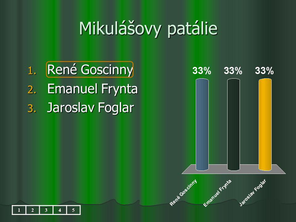 Mikulášovy patálie 1. René Goscinny 2. Emanuel Frynta 3. Jaroslav Foglar 12345