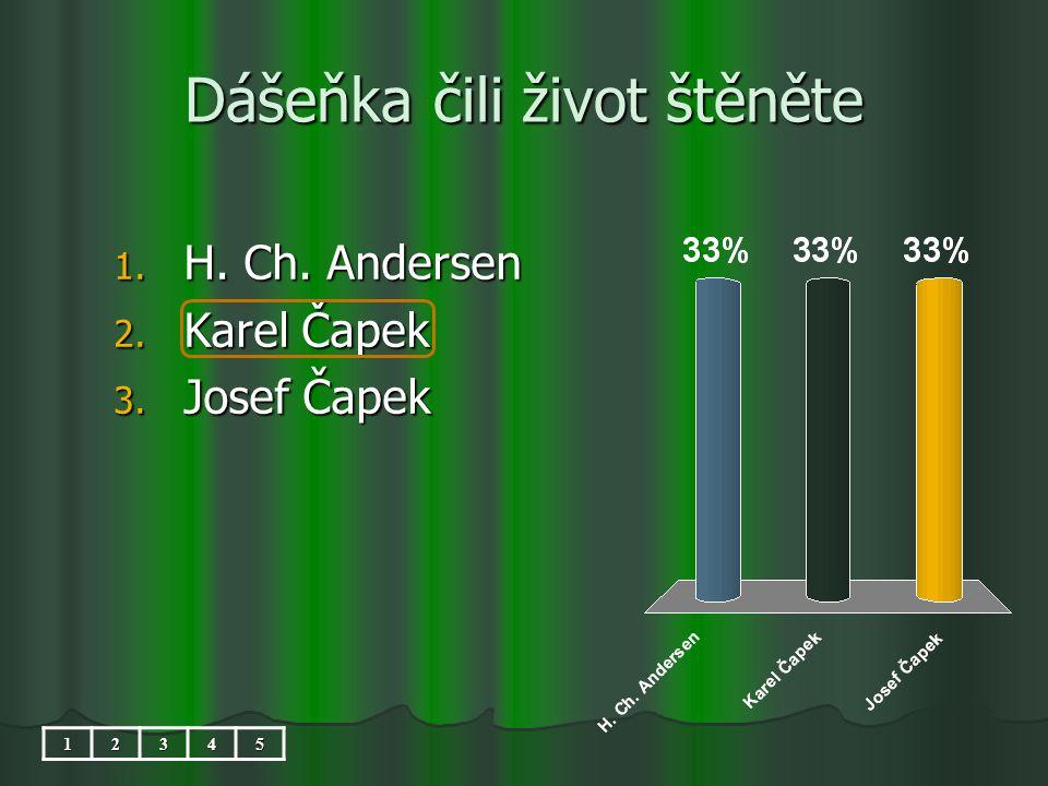 Dášeňka čili život štěněte 1. H. Ch. Andersen 2. Karel Čapek 3. Josef Čapek 12345