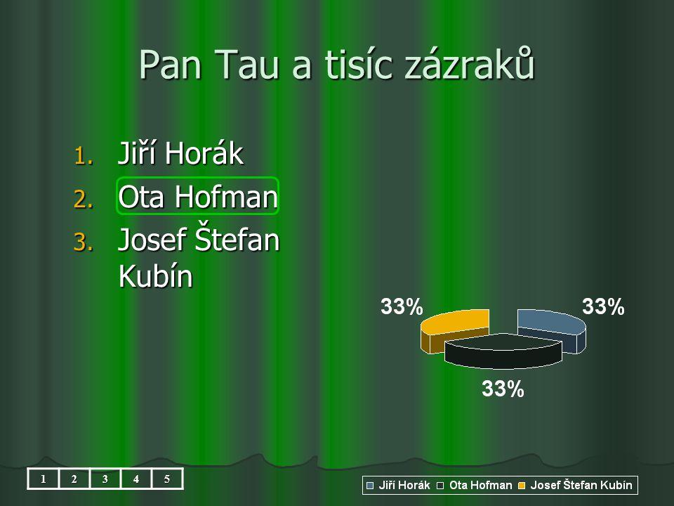 Pan Tau a tisíc zázraků 1. Jiří Horák 2. Ota Hofman 3. Josef Štefan Kubín 12345