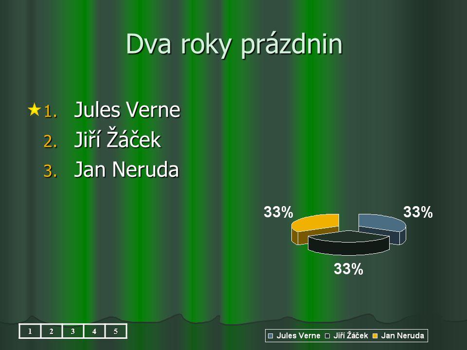 Dva roky prázdnin 1. Jules Verne 2. Jiří Žáček 3. Jan Neruda 12345