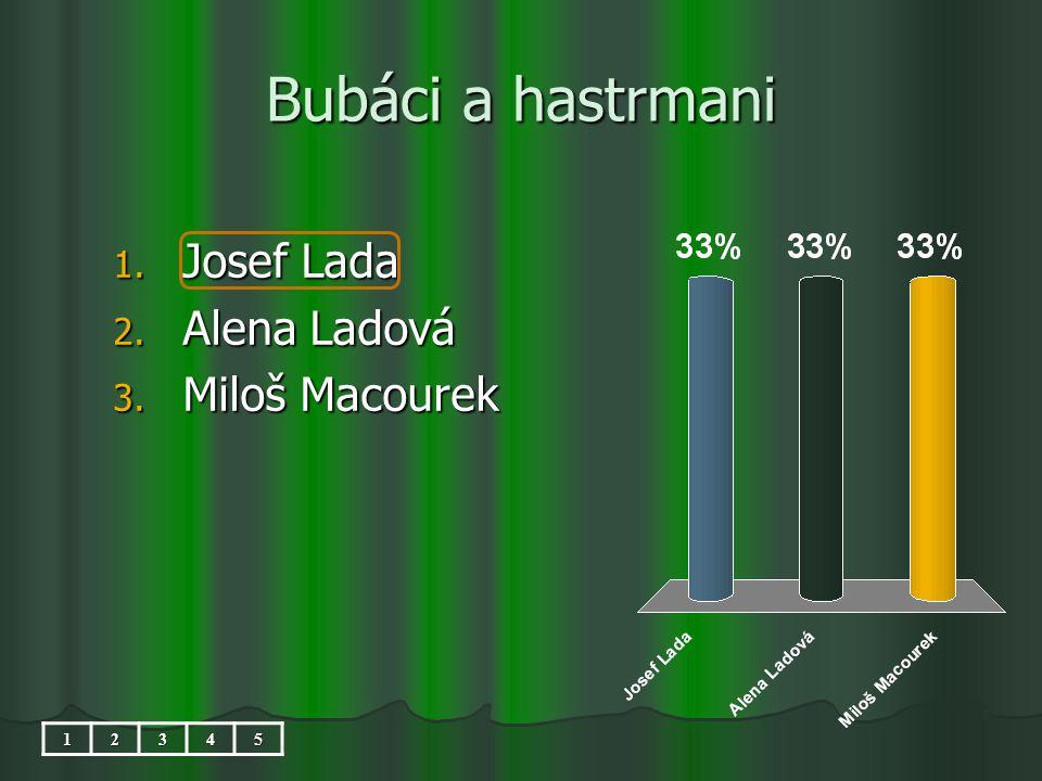 Bubáci a hastrmani 1. Josef Lada 2. Alena Ladová 3. Miloš Macourek 12345