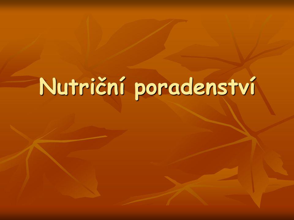 Obsah Individuální nutriční poradenství Individuální nutriční poradenství Hodnocení stravovacích zvyklostí a nutriční spotřeby Hodnocení stravovacích zvyklostí a nutriční spotřeby Výživová doporučení Výživová doporučení Práce s klientem Práce s klientem