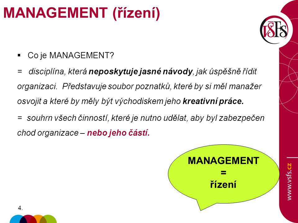 PERSONÁLNÍ MANAGEMENT  Styly řízení  Maslowova hierarchie potřeb / Herzbergova dvoufaktorová teorie řízení – viz 1.řízená konzultace  Loajalita a Důvěra Náplň personálního managementu (HR) Specifikace požadavků na pracovní místo Vedení personální agendy Plánování lidských zdrojů Získávání a výběr pracovníků Hodnocení pracovníků a jejich výkonů Odměňování pracovníků Ochrana při práci a pracovní podmínky Organizace dalšího vzdělávání Zabezpečení pracovních podmínek, uvolňování pracovníků = zaměstnanci jsou především LIDÉ, nejsou stroje