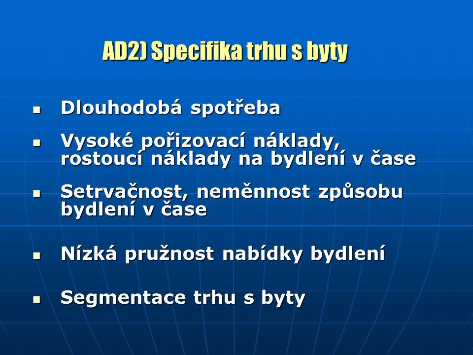 AD 7) Ostatní nástroje bytové politiky 1.Daňové úlevy 2.