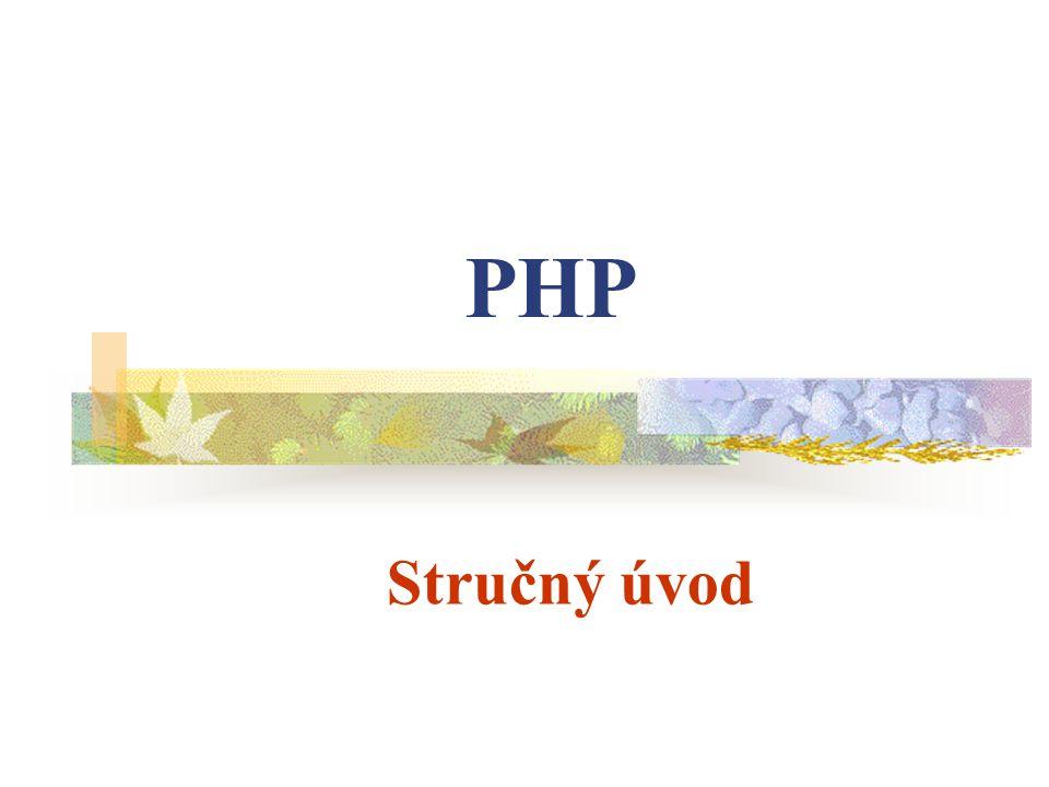 Stručný úvod PHP