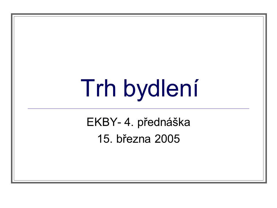 Trh bydlení EKBY- 4. přednáška 15. března 2005