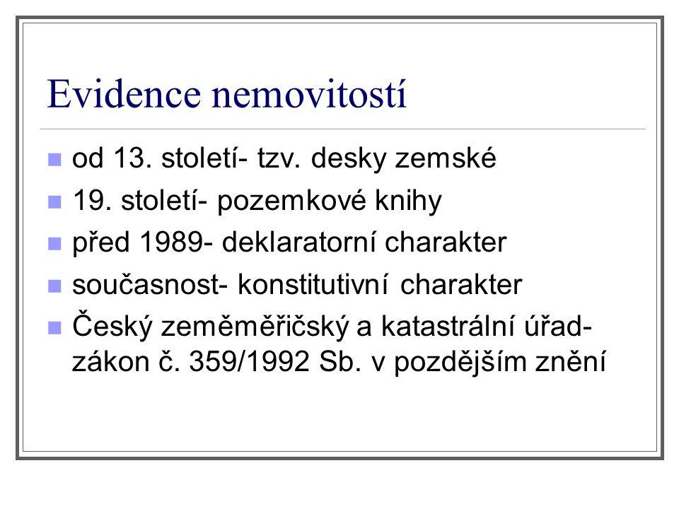 Evidence nemovitostí od 13. století- tzv. desky zemské 19.