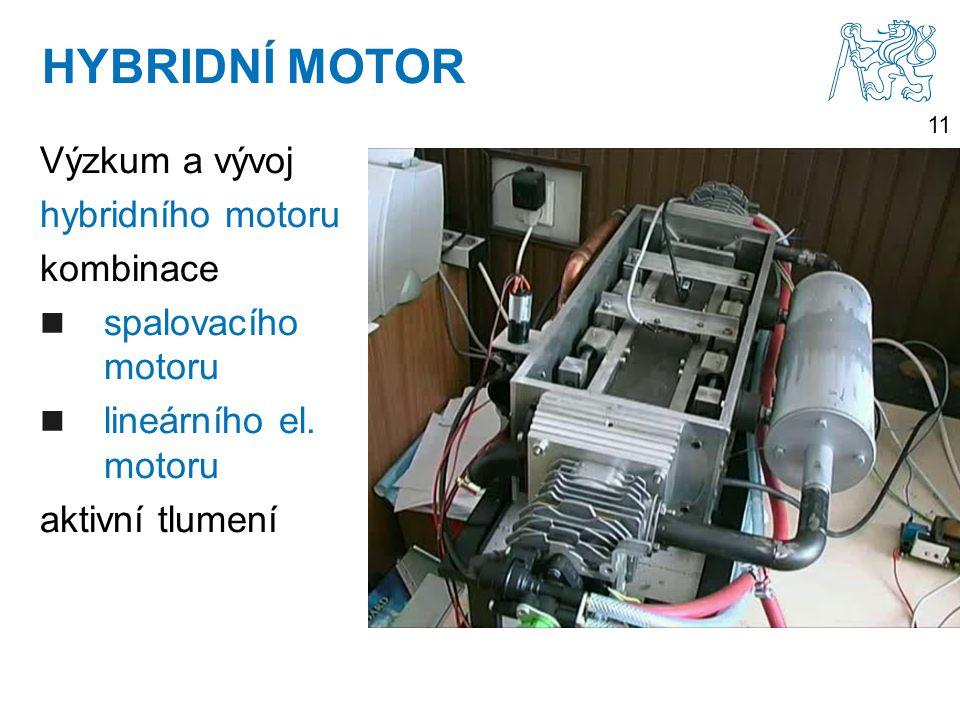 11 Výzkum a vývoj hybridního motoru kombinace spalovacího motoru lineárního el.