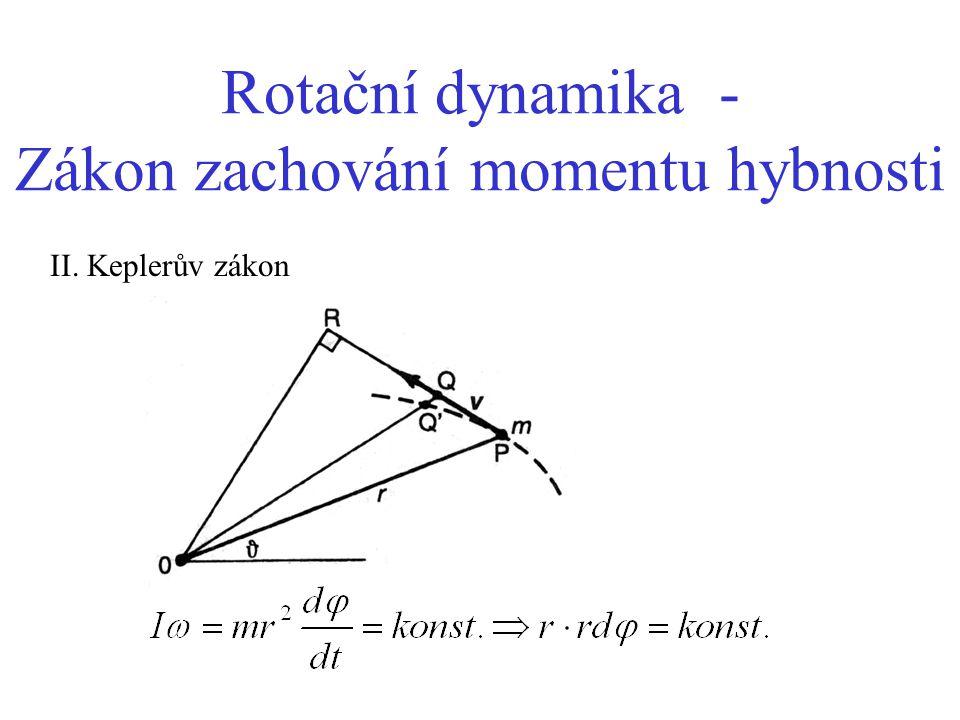 Rotační dynamika - Zákon zachování momentu hybnosti II. Keplerův zákon
