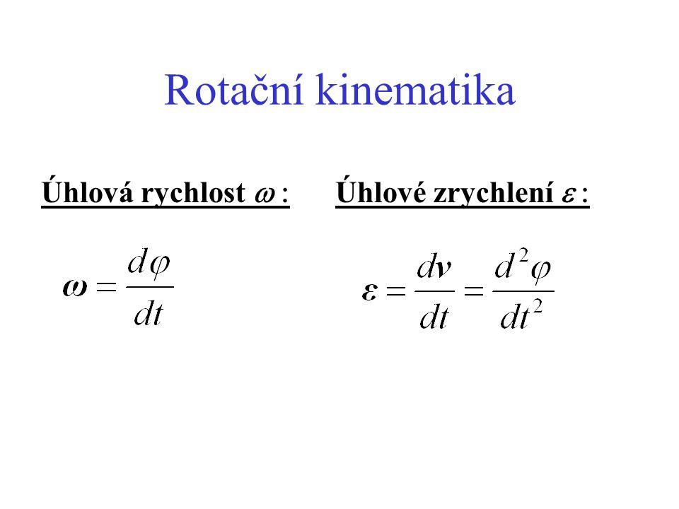 Rotační dynamika - zákon síly N = I  Pokud M = konst.