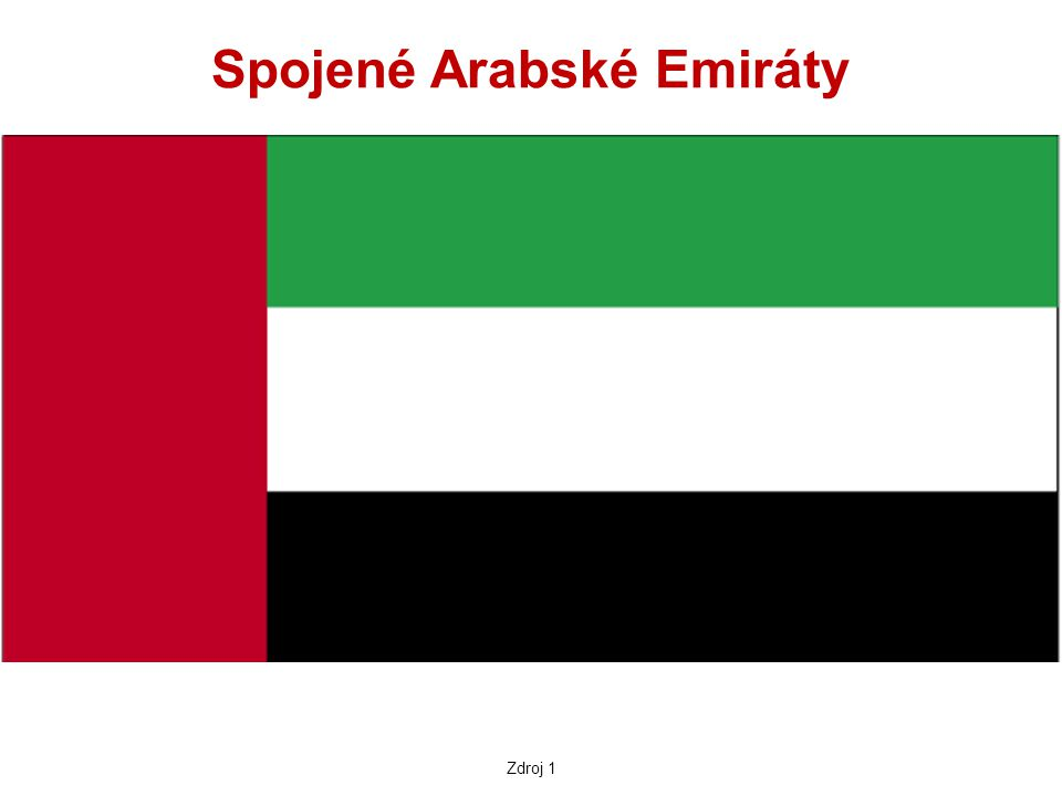Vlajka červená barva se vyskytovala na vlajkách všech emirátů bílá barva byla na vlajkách těch emirátů, které podepsaly v r.