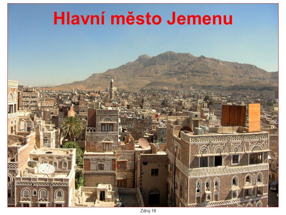 Hlavní město Jemenu Zdroj 16