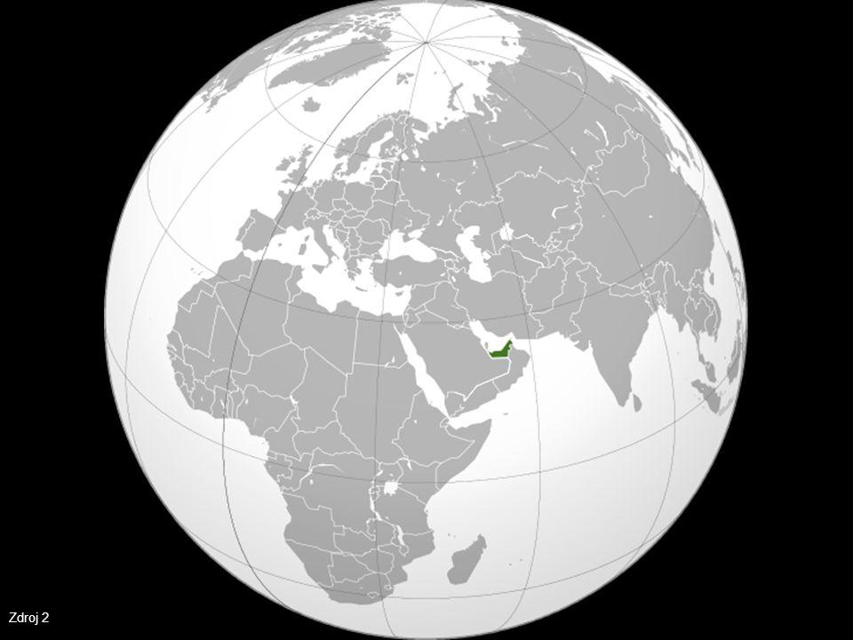 Politická mapa SAE Zdroj 3