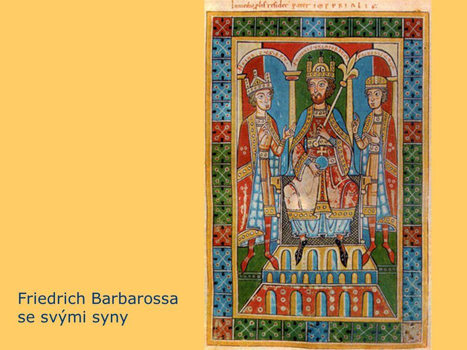 a Friedrich Barbarossa se svými syny