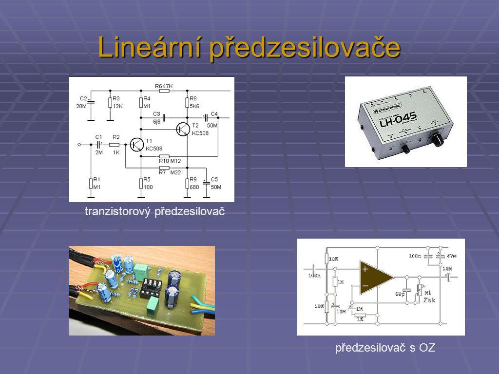 Lineární předzesilovače tranzistorový předzesilovač předzesilovač s OZ