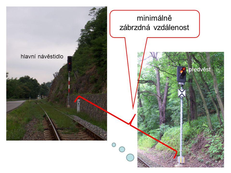 """hlavní návěstidlo hlavní návěstidlo Není-li třeba vlak zastavit, hlavní návěstidlo signalizuje návěst """"volno a předvěst také signalizuje návěst """"volno ."""