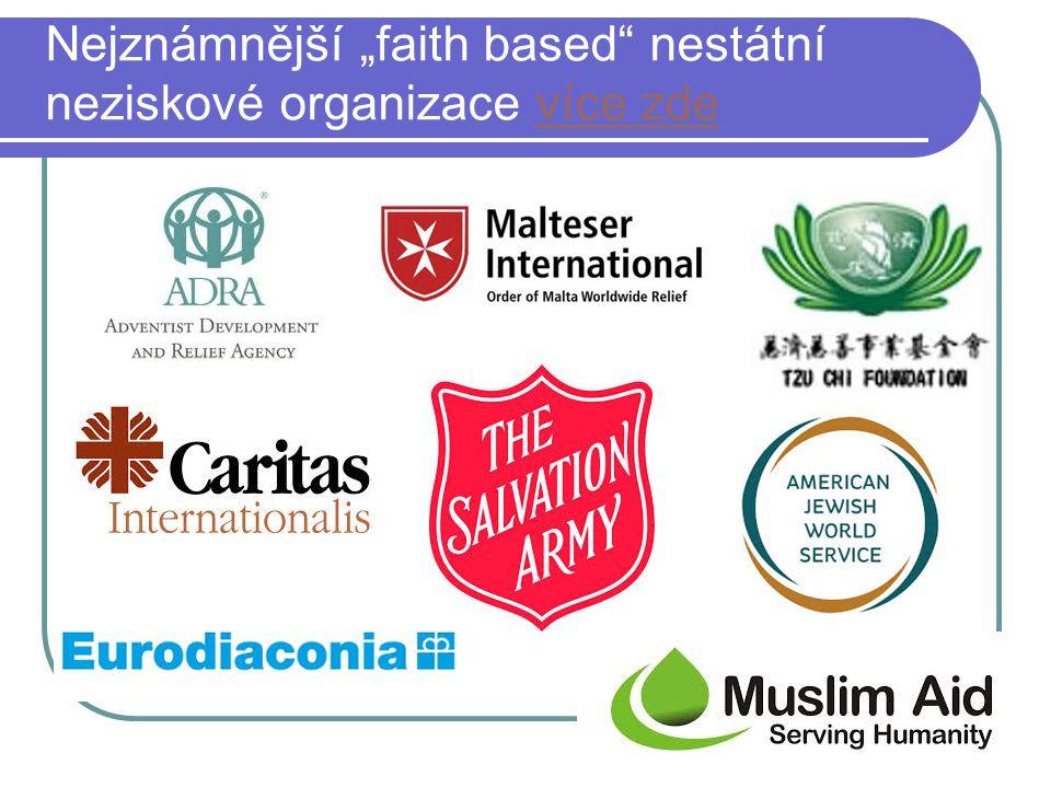 """Nejznámnější """"faith based"""" nestátní neziskové organizace více zdevíce zde"""