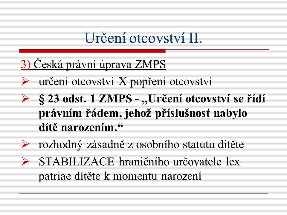 Určení otcovství II.