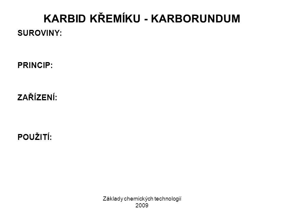 Základy chemických technologií 2009 SKLÁŘSKÁ PEC