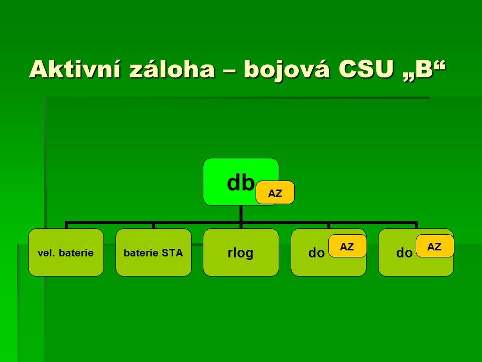 """Aktivní záloha – bojová CSU """"B AZ"""