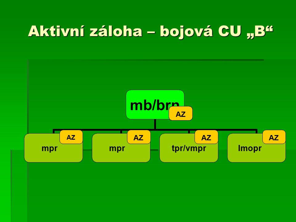 """Aktivní záloha – bojová CU """"B AZ"""