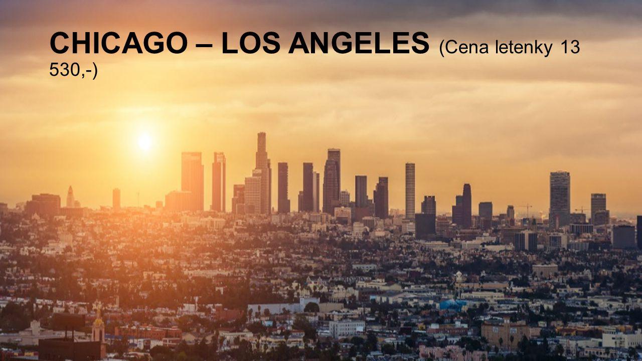 CHICAGO – LOS ANGELES (Cena letenky 13 530,-)