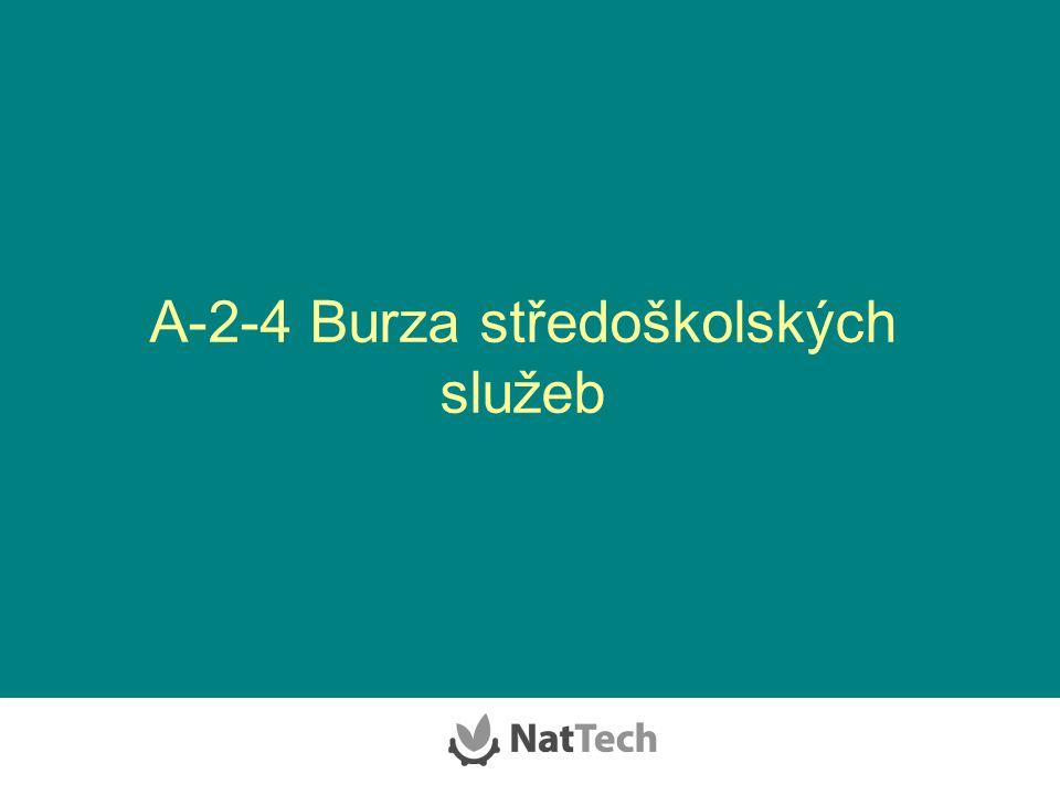 A-2-4 Burza středoškolských služeb